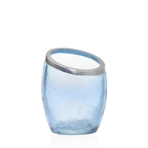 Yankee Candle Porta candele pearlescent crackle - azzurro